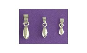 Pinch Bail Small Silver Plated