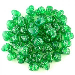 Plastic heart beads