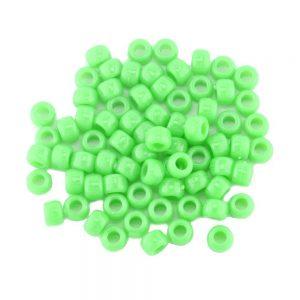 Opaque Pony Bead Neon Green