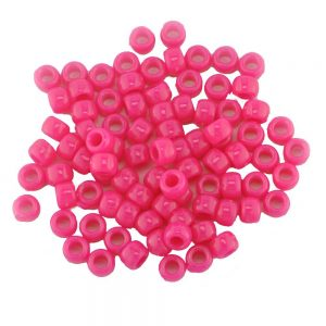 Opaque Pony Bead Neon Pink
