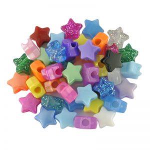 Plastic Bead Star Mix