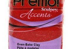 Premo! Sculpey Accents Red Glitter
