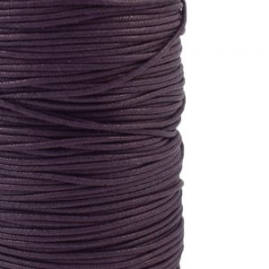 2mm wax cotton cord purple