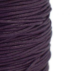 1mm purple wax cotton cord