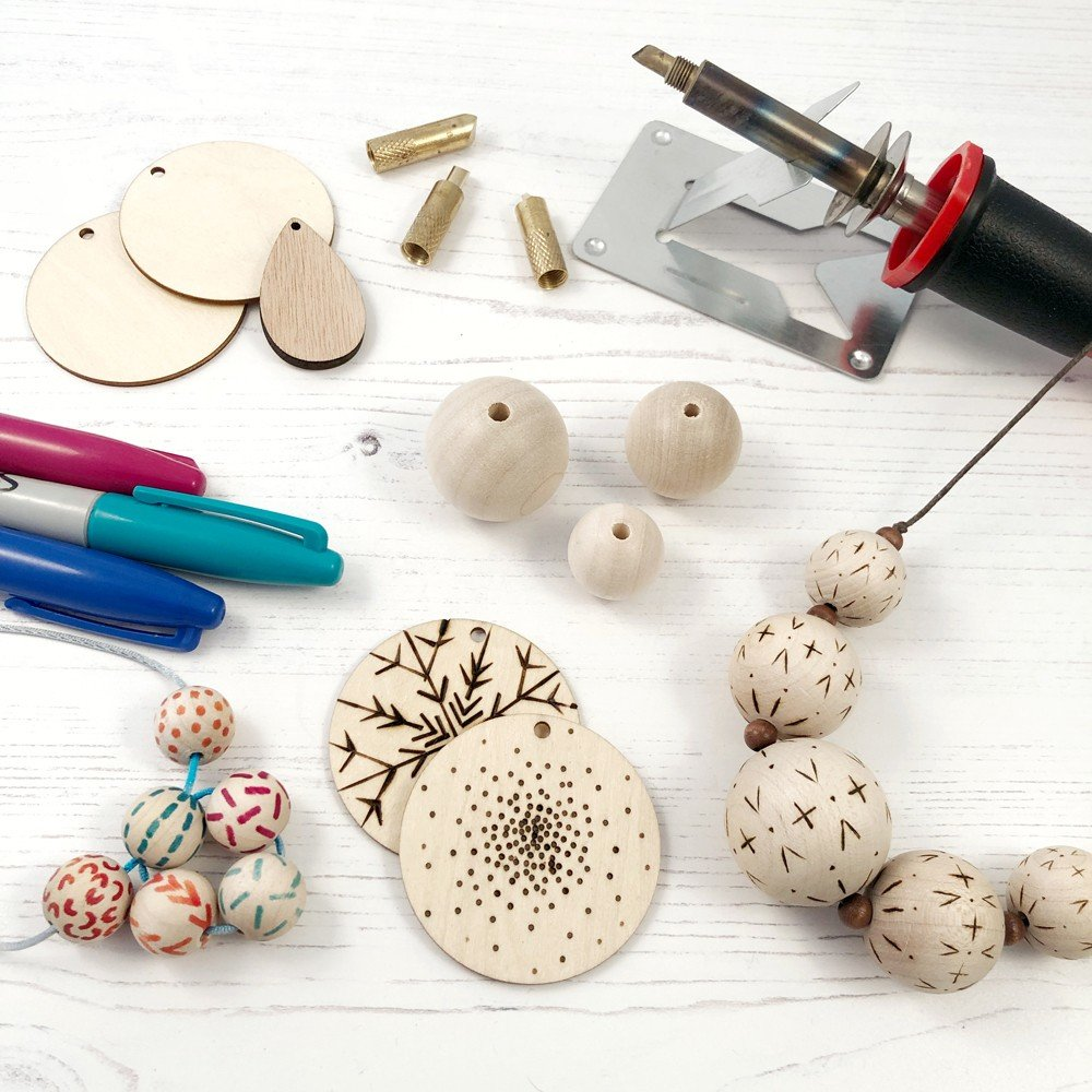 Pyrography Decorative Beads