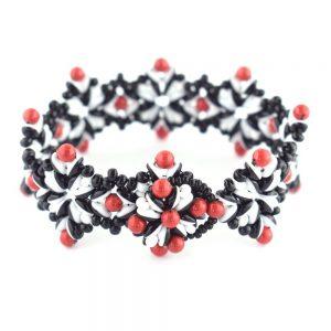 Quadrilateral Duet Bracelet Kit - Black & White