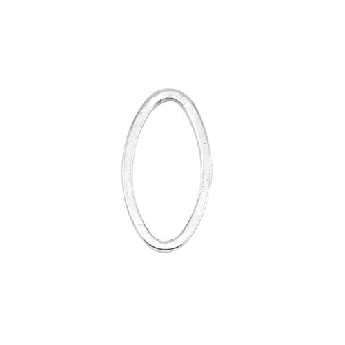 Quicklink Medium Oval Silver Plated