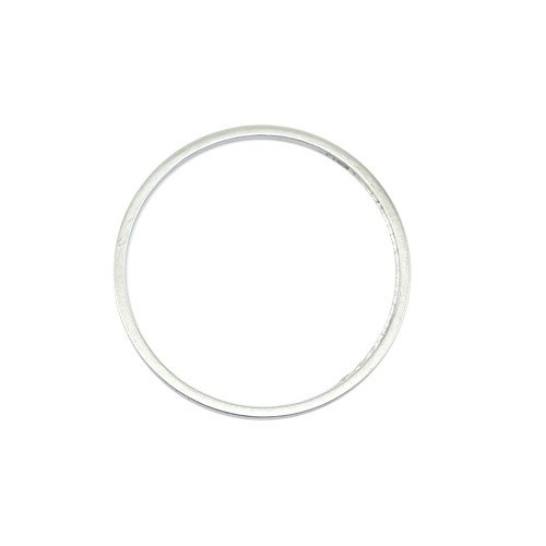 Quicklink Large Round Silver Plated