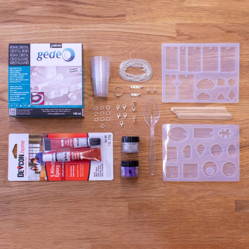 resin jewellery making starter kit contents