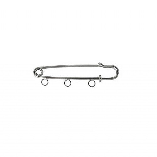 Kilt Pin with Loops Rhodium Plated