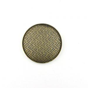 Antique Gold Round Sieve Cabochon