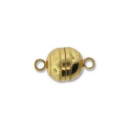 Magnetic clasp round gold plated