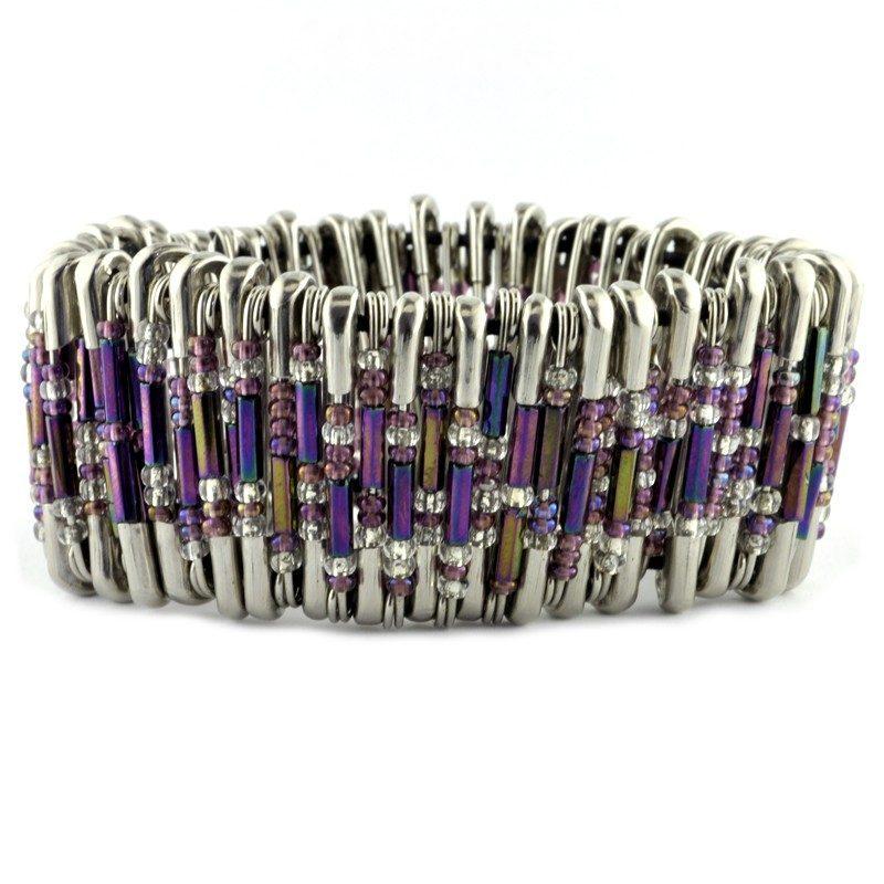 Safety Pin Bracelet Kit Purple