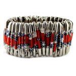 Safety Pin Bracelet Kit Red