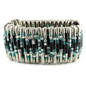 Safety Pin Bracelet Kit Teal