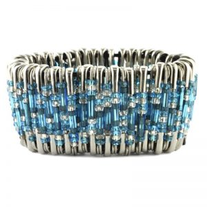 Safety Pin Bracelet Kit Turquoise