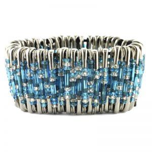 Safety Pin Bracelet Kit Turquoise