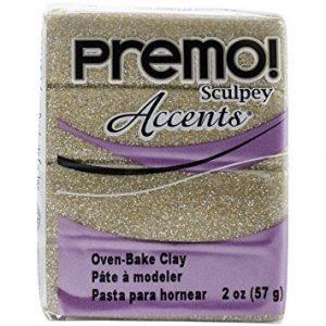 Premo! Sculpey Accents Yellow Gold Glitter