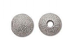 8mm Stardust Sparkle Bead Silver Plated