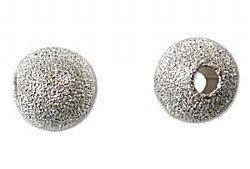 10mm Stardust Sparkle Bead Silver Plated