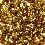 preciosa czech glass seed beads mixed brown colour