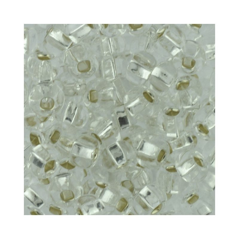 size 5 czech glass seed beads silver lined crystal