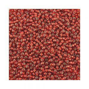 silver lined red czech glass seed beads