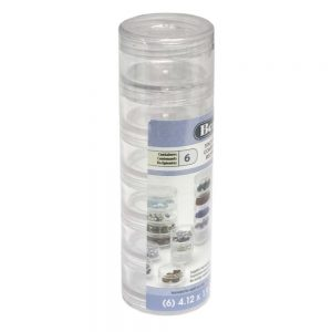 6 Tier Bead Stacker in rigid clear plastic