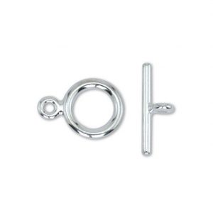 Toggle clasp small silver plated