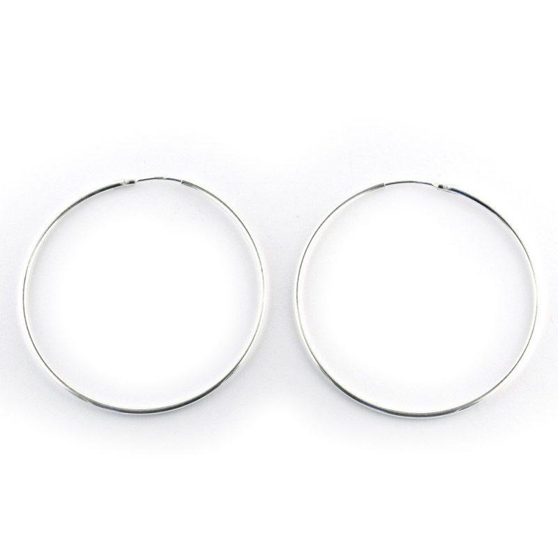 Sterling Silver Hoop Earrings 40mm