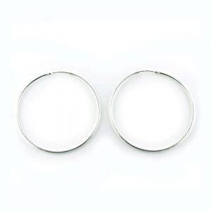 Sterling silver hoop earrings 30mm