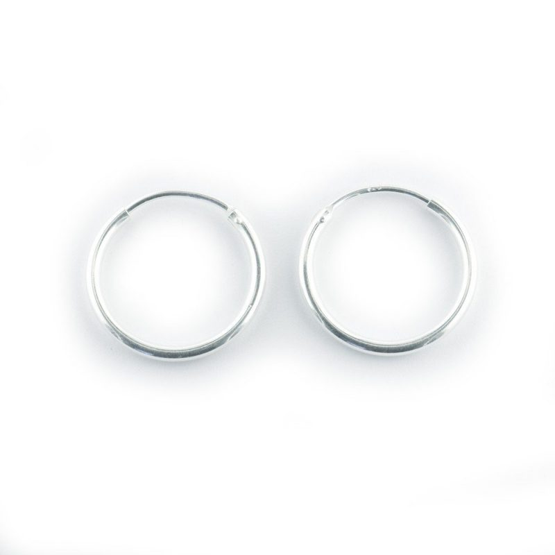 Sterling Silver Hoop Earrings 20mm
