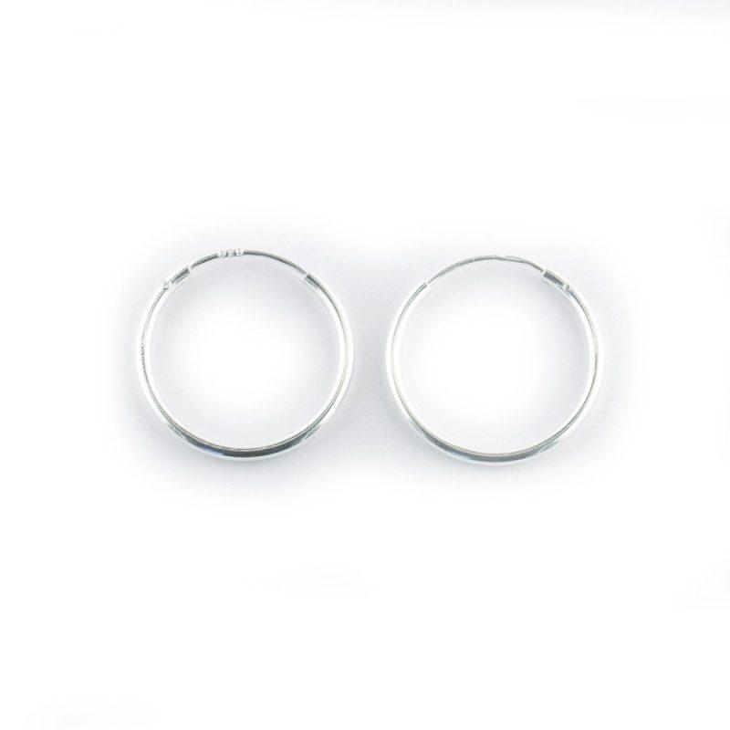 Sterling Silver Hoop Earrings 15mm