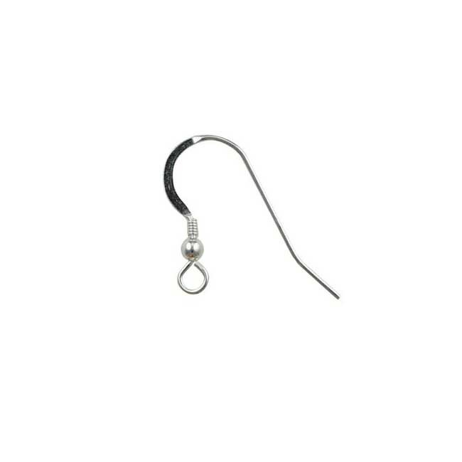 Sterling Silver Fishhook with Ball