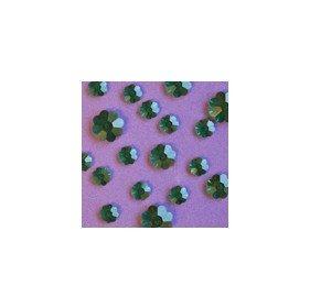 Swarovski Sew on Flower Emerald Green size comparison