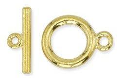 Toggle Clasp Small with T-Bar Gold Plated