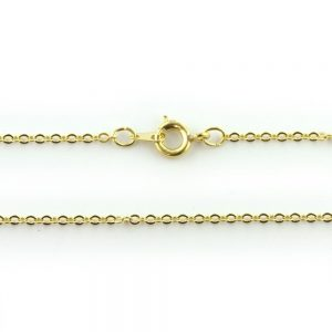 18 Inch Trace Chain Gold Plated