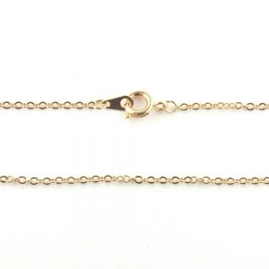 18 Inch Trace Chain Rose Gold Plated