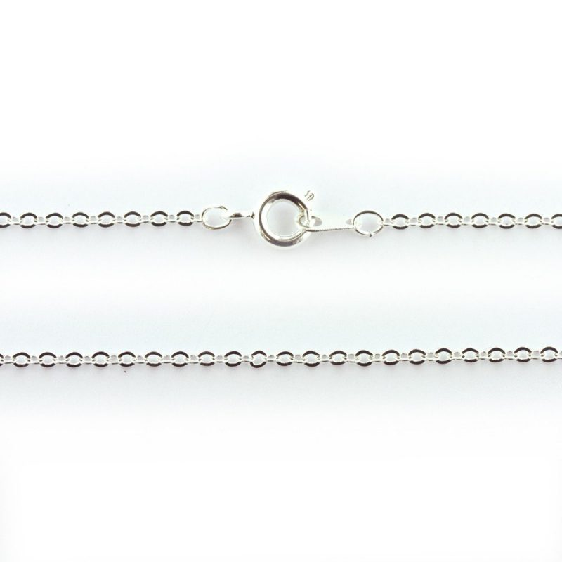 18 Inch Trace Chain Silver Plated
