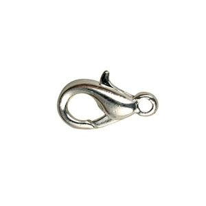 Trigger clasp silver plated small