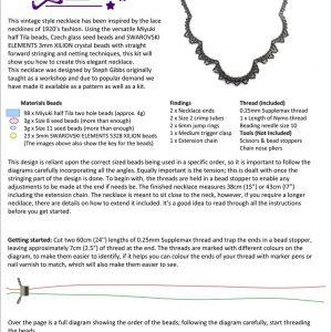 Vintage Style Lace Necklace - Pattern