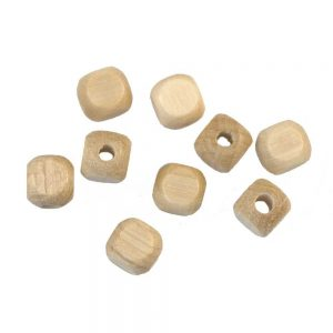 wood bead cubes