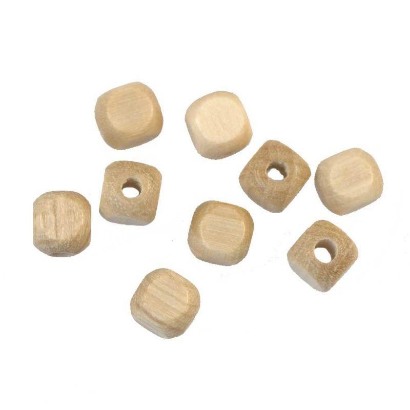 wood bead cubes