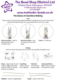 The bead shop nottingham how to make jewellery leaflet