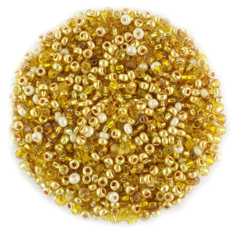 Preciosa seed beads size 8/0 mixed golds