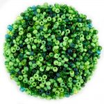 Size 8 Preciosa Mixed Green Seed Beads