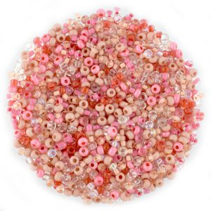 Size 8 Preciosa Mixed Pink Seed Beads