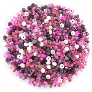 size 8/0 czech glass purple mixed seed beads