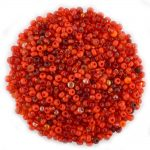 Size 8 Preciosa Mixed Red Seed Beads