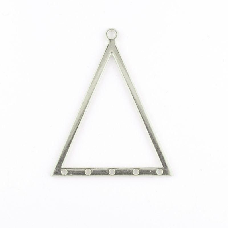 Antique Silver Large Triangle Pendant